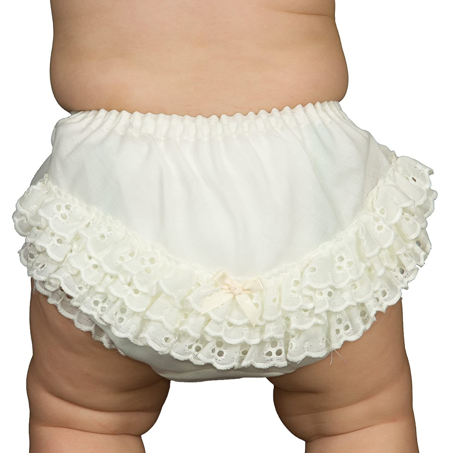 IC Collections Baby Girls Ecru Batiste Rumba Diaper Cover Bloomers 000045ec