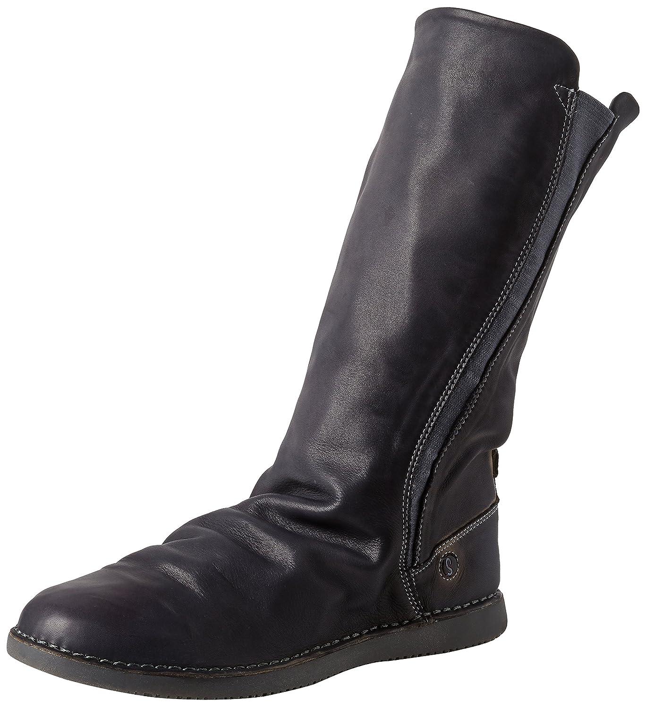 Grau (Anthracite 017) Softinos Damen Teya328sof Washed Leather Stiefeletten