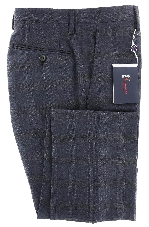 Slim Donnanna New Dark Blue Plaid Pants 40//56