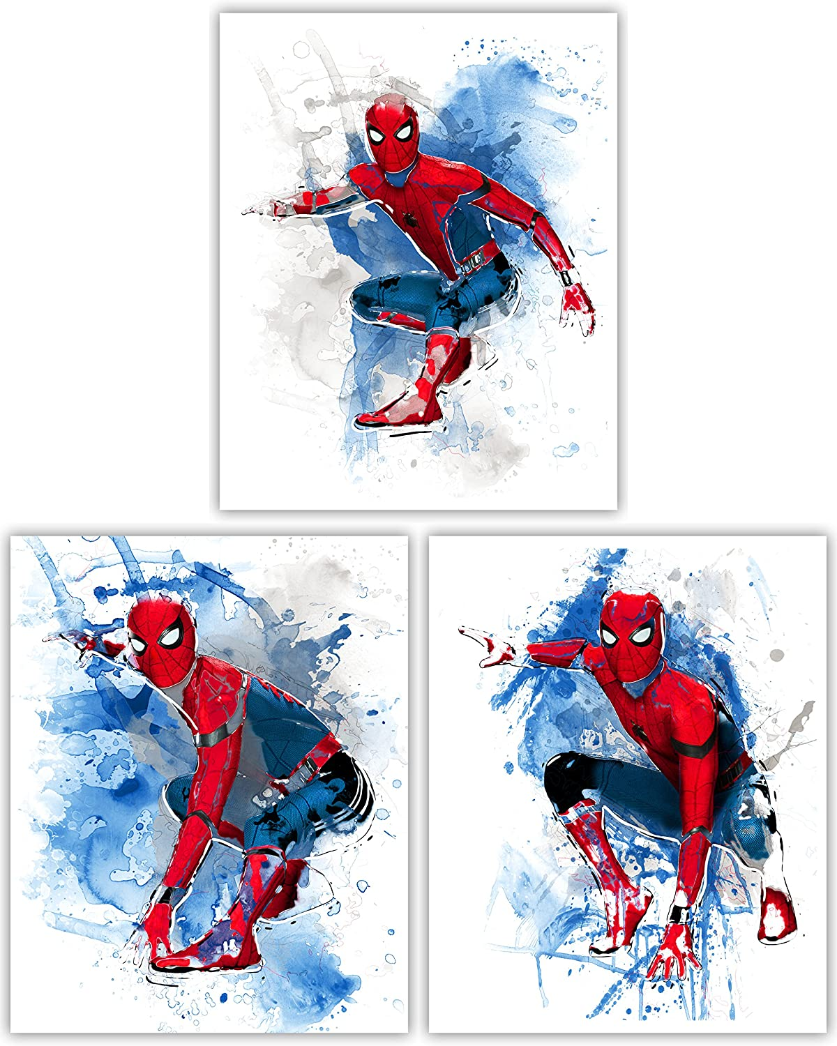 Spider-Man Homecoming Wall Decor Collection - The Spectacular Avenger in Our Ultimate Wall Art Movie Poster Series - Set of 3 8x10 Photos