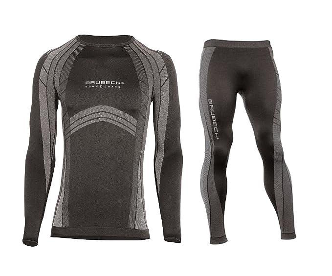 2 opinioni per Brubeck- Set tecnico uomo: maglia e calzamaglia, ideali come biancheria da sci o