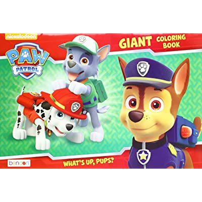 Paw Patrol 'What's Up, Pups?' Giant Coloring and Activity Book: Toys & Games