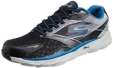 Skechers Men's Go Run Ride 4 Black and Blue Running Shoes - 11 UK/India