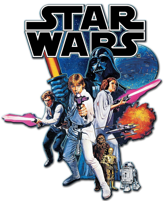 15 x 10.5 inches Silver Buffalo SW4406 Disney Star Wars Episode 4 Die Cut Wood Wall Art