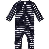 WELLYOU, Pijamas, Pijamas para niños y niñas, una Pieza de Manga Larga, niños pequeños, Azul Marino con Rayas Blancas…