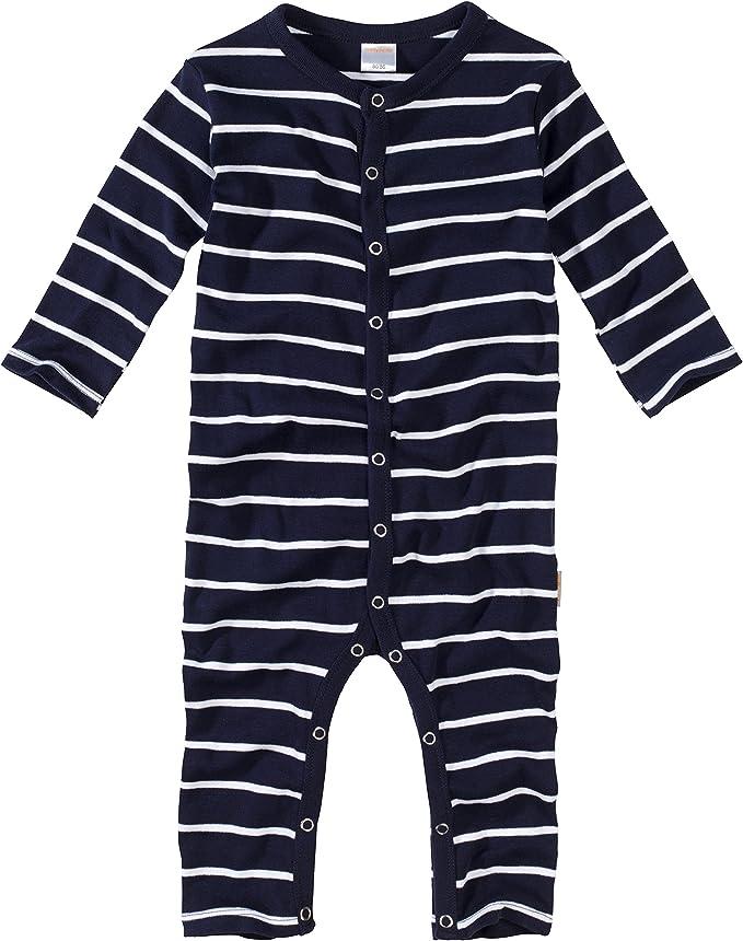 Baby Kinder Schlafanzug Feinripp 100/% Baumwolle Marine neon-gelb gestreift Geringelt WELLYOU Einteiler Langarm Pyjama f/ür Jungen und M/ädchen