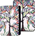 TERSELY Slimshell Case Cover for All-New Kindle Paperwhite 10th Generation-2018 (Model No. PQ94WIF), Smart Shell Cover with Auto Sleep/Wake for Amazon Kindle Paperwhite 10th - Trees