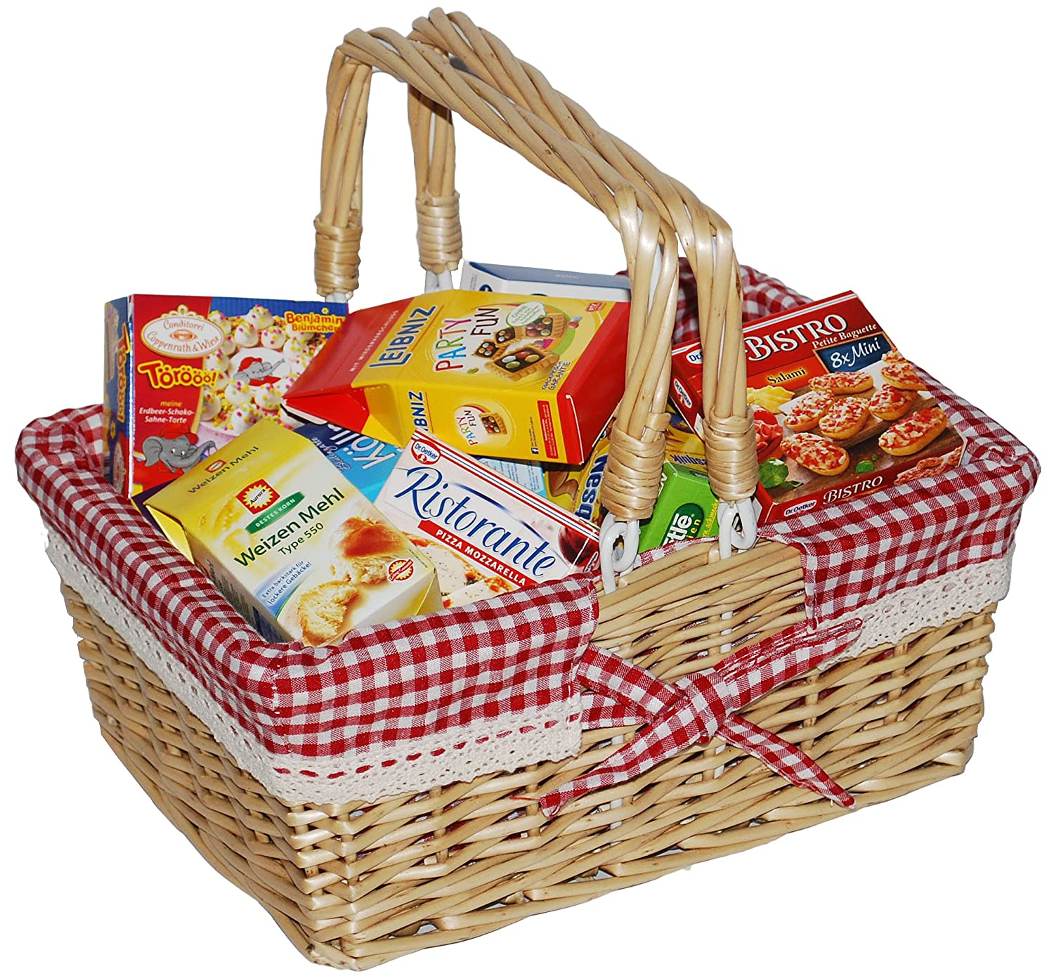 Tanner 40982 Red Wicker Basket