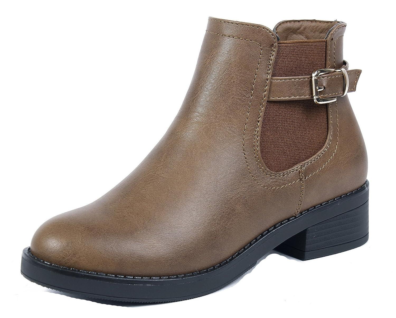 AgeeMi Shoes Shoes Femmes Chelsea Bottes Hiver Imperméable Talon Talon Renforcé Chelsea Classiques Talon Bloc Bottines Brun 392bd29 - jessicalock.space
