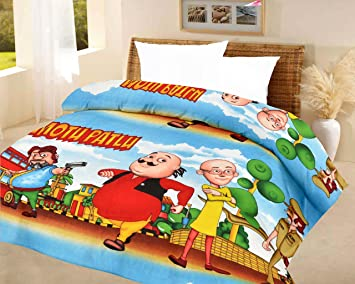 Buy Lali Prints Kids Quilt Motu Patlu A.C Blanket Single Bed Size ... : kids quilt - Adamdwight.com