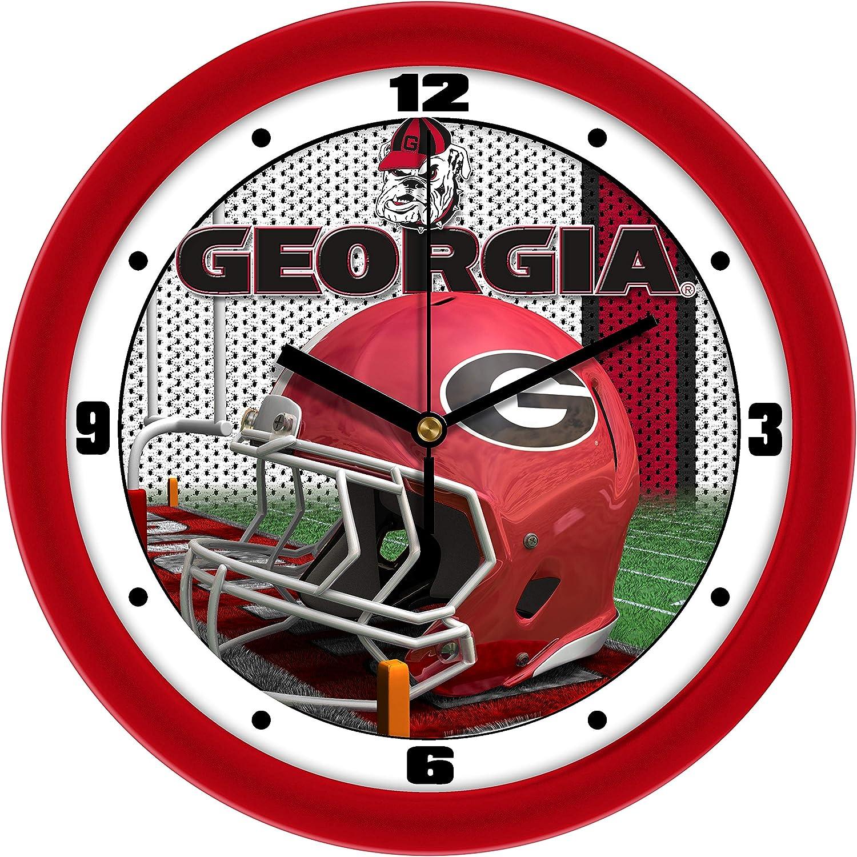 Football Helmet Wall Clock SunTime Georgia Bulldogs