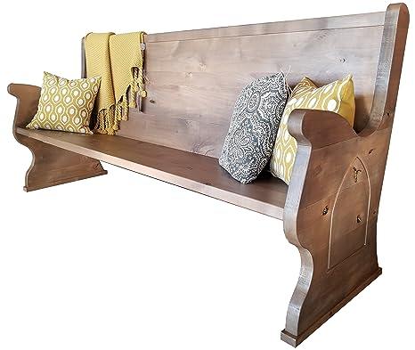 Sensational Amazon Com Rustic Church Pew 48 L Barn Wood Finish Cjindustries Chair Design For Home Cjindustriesco