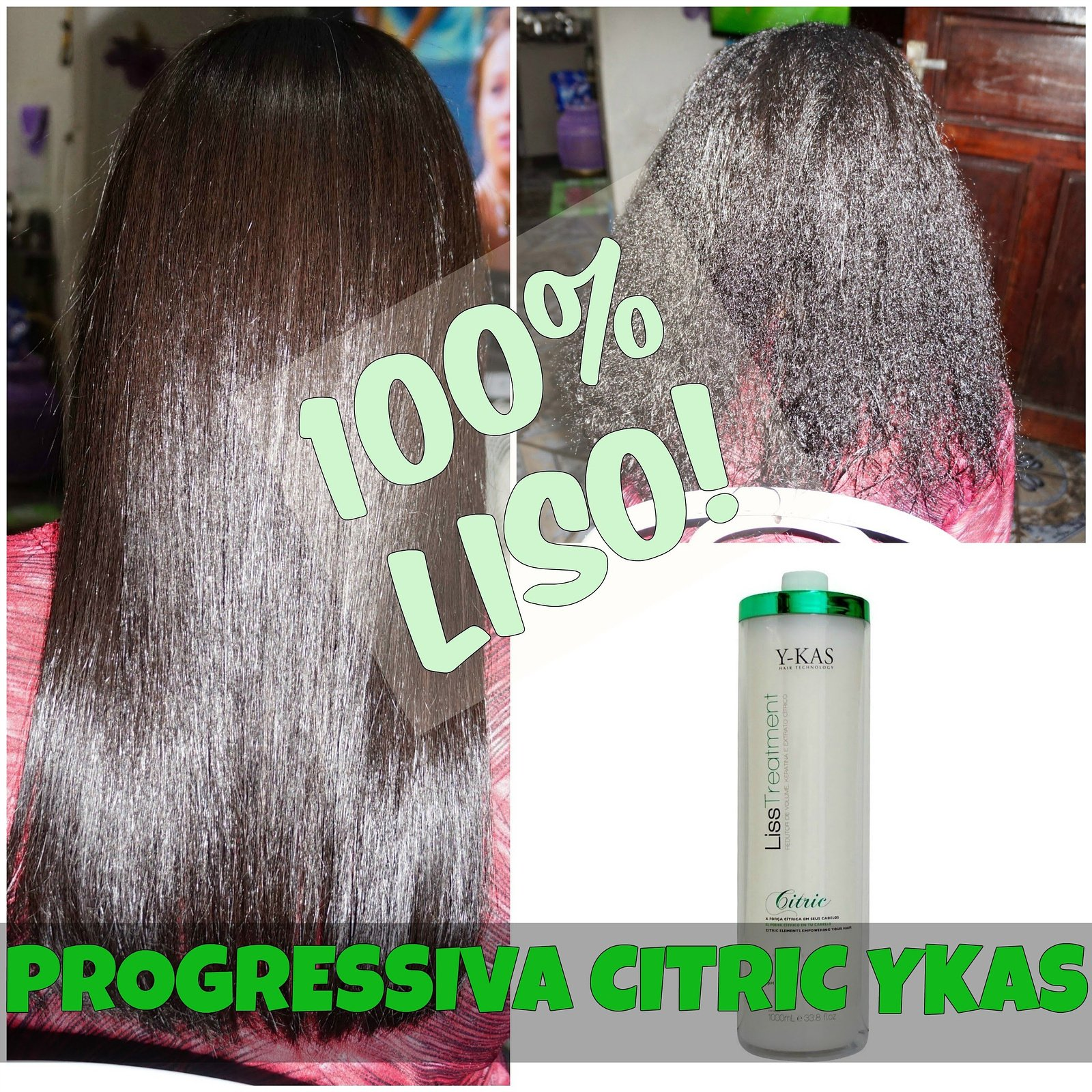 Y-Kas Citric Liss Treatmet Brazilian Keratin Hair Straightening Smoothing System Progressive Brush 1L by Y-KAS (Image #1)