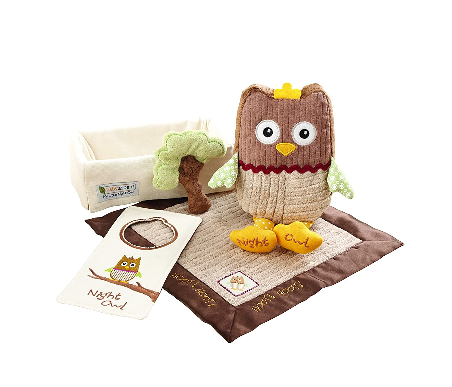 Baby Aspen My Little Night Owl Baby Gift Set, 5-Piece BA11021NA