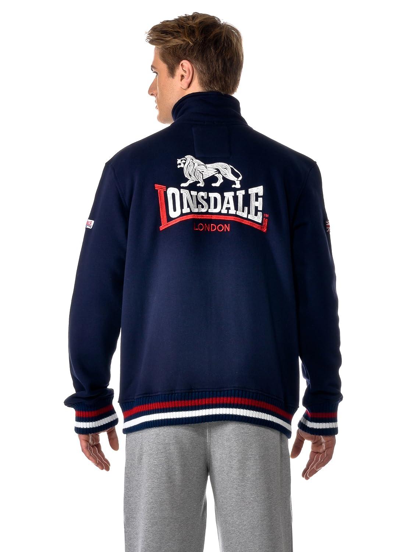 Lonsdale Sweatshirt Zip Dover Sudadera, Hombre, Azul Marino, 3XL (XXL UK): Amazon.es: Ropa y accesorios
