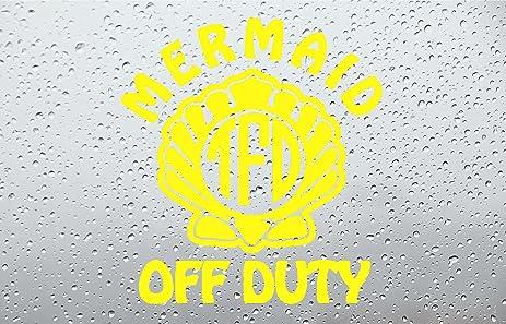 Amazoncom Mermaid Off Duty Monogram Car DecalSticker INCH - Monogram car decal amazon