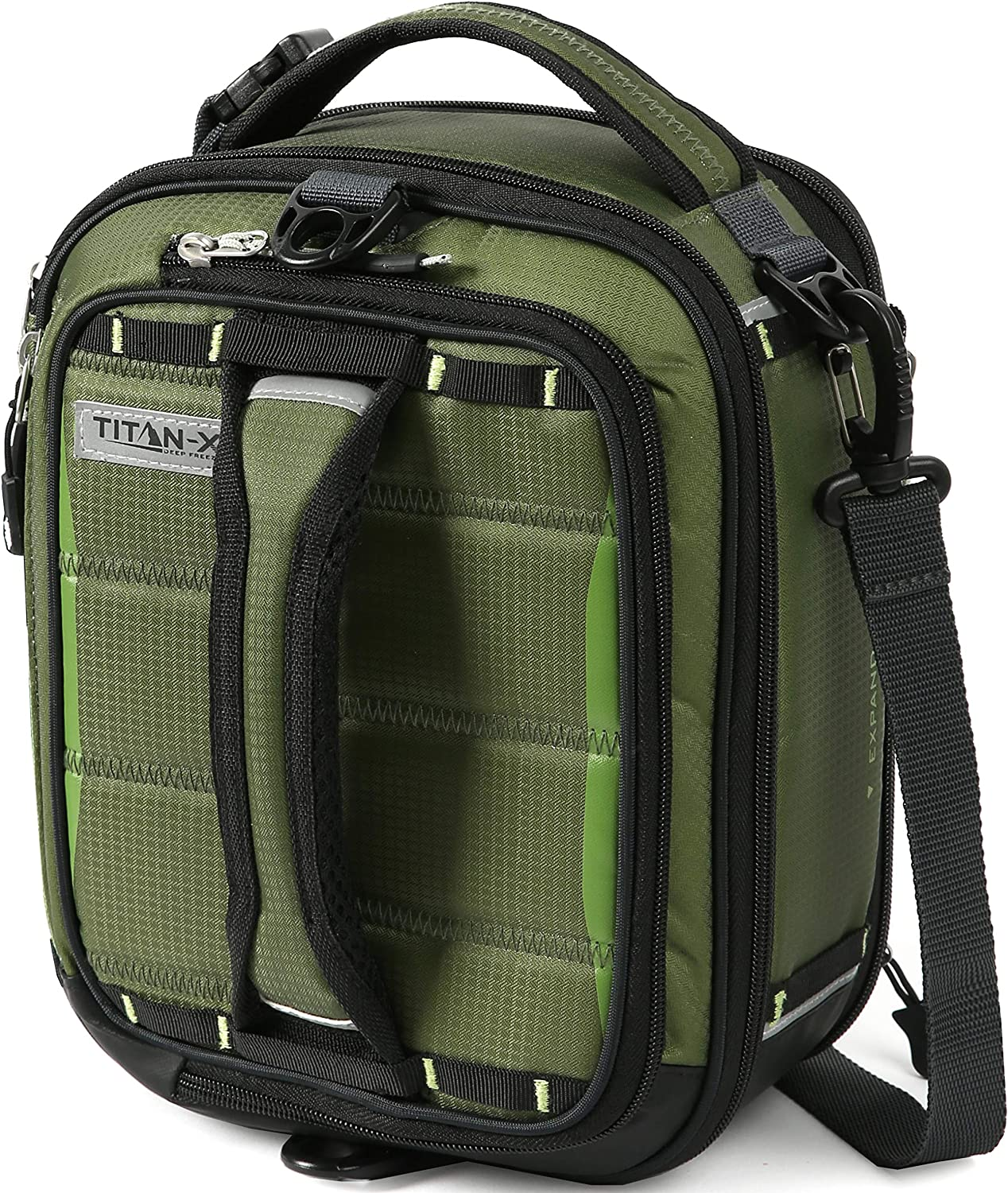 Arctic Zone Titan X Dual Compartment Insulated Expandable Lunch Pack, Olive Green