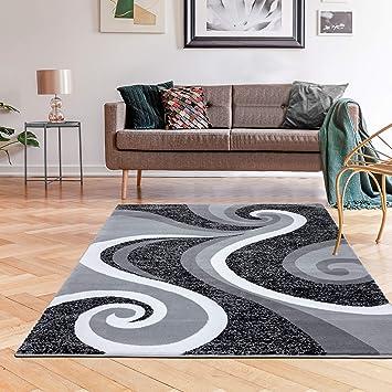 0327 Gray White Black 5 2x7 2 Area Rug Abstract Carpet Furniture Decor