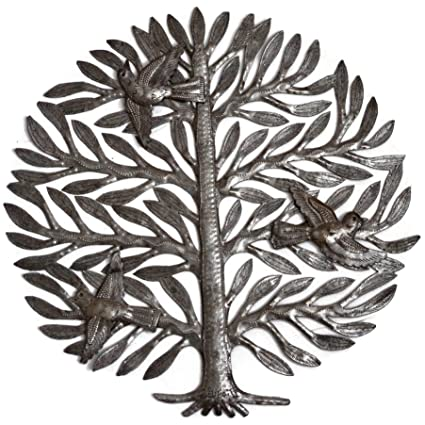 Amazon.com: it\'s cactus - metal art haiti Family Tree, Metal Wall ...