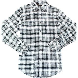 a68e2e7de1a5 John Ashford Mens Flannel Checkered Button-Down Shirt Black S at ...