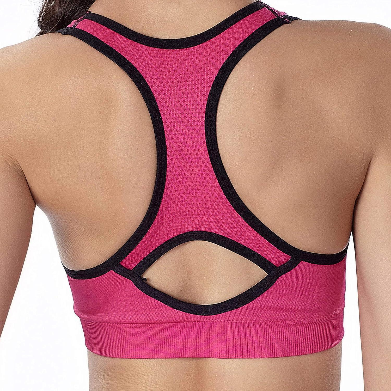 SHEKINI Reggiseno Sportivo Imbottito da Donna Reggiseni Sportivi da Fitness Yoga Ginnastica Corsa Jogging