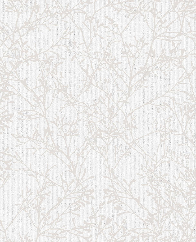 TRANQUILLITY TREE WALLPAPER SILVER FINE DECOR FD41712 GREY