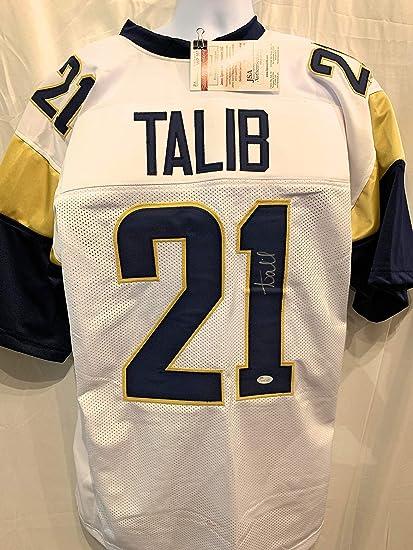 Aqib Talib Los Angeles Rams Signed Autograph White Custom Jersey ...