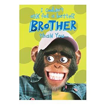 Hallmark Brother Birthday CardquotFunny Monkeyquot