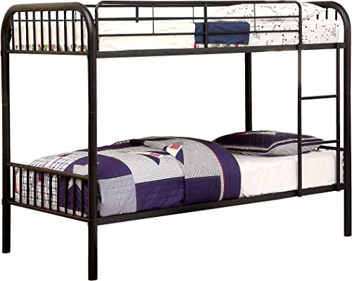 Furniture of America Newton Twin-Twin Metal Bunk Bed