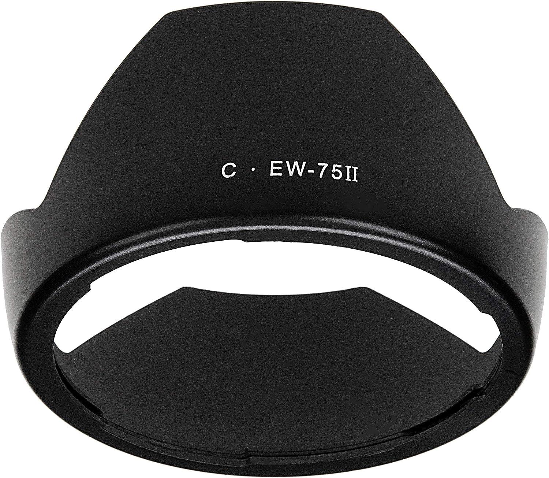 Fotodiox Lens Hood for Canon EF 20mm f//2.8 Lens EW-75 II Replacing Canon Lens Hood EW-75II