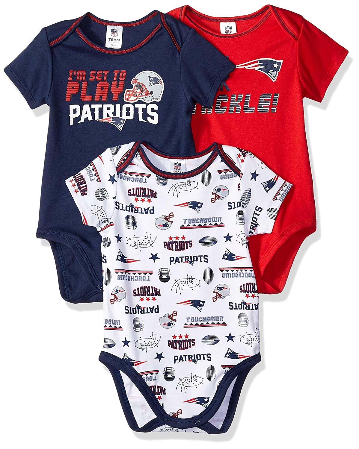 new product b8bdf 48e30 Gerber New England Patriots Baby/Infant 3 Piece Bodysuit Set