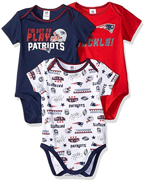 Image Unavailable. Image not available for. Color  NFL New England Patriots  Unisex-Baby 3-Pack Short Sleeve Bodysuits ... 1b4cdfccf