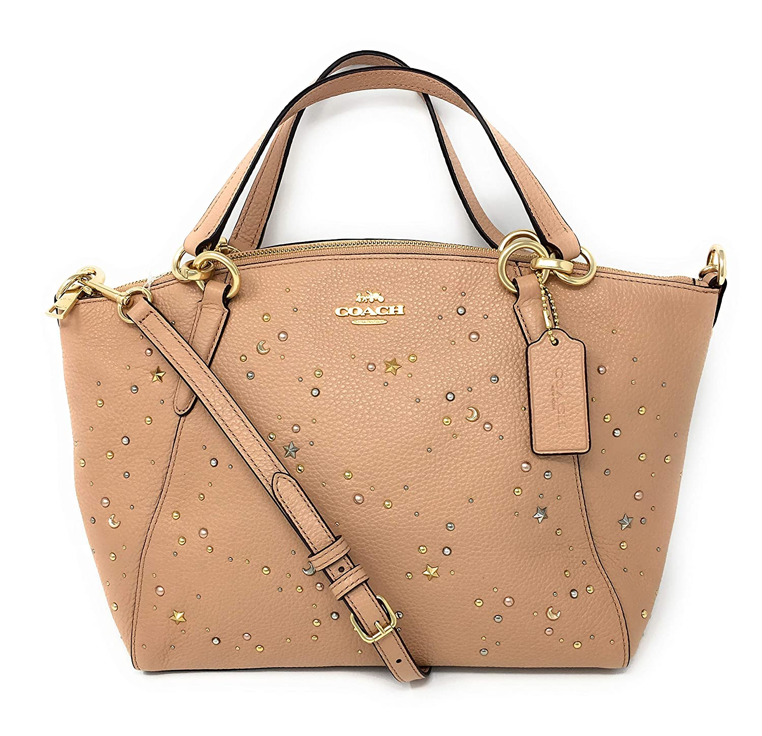 aa1f415f SMALL KELSEY COACH SATCHEL WITH CELESTIAL STUDS, F29597, PINK ...