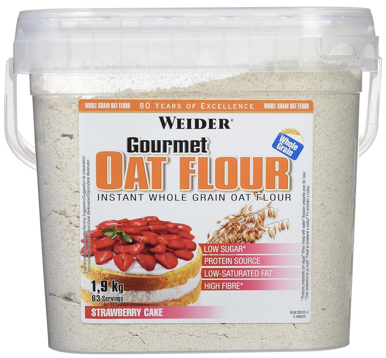 WEIDER Oat Gourmet Flour (Harina de Avena) Tarta de Fresa 1,9 kg: Amazon.es: Salud y cuidado personal