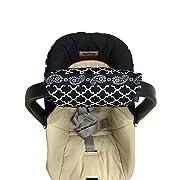 Padalily The Original Car Seat Handle Cushion/Pad/Pillow Newborn 0-12 months (Quatre Black)