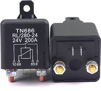 Rl 280 24 Batterie Trennrelais Relais 24v 200a Spitzenlast Für Pkw Lkw Kfz Auto Camping Wohn Auto