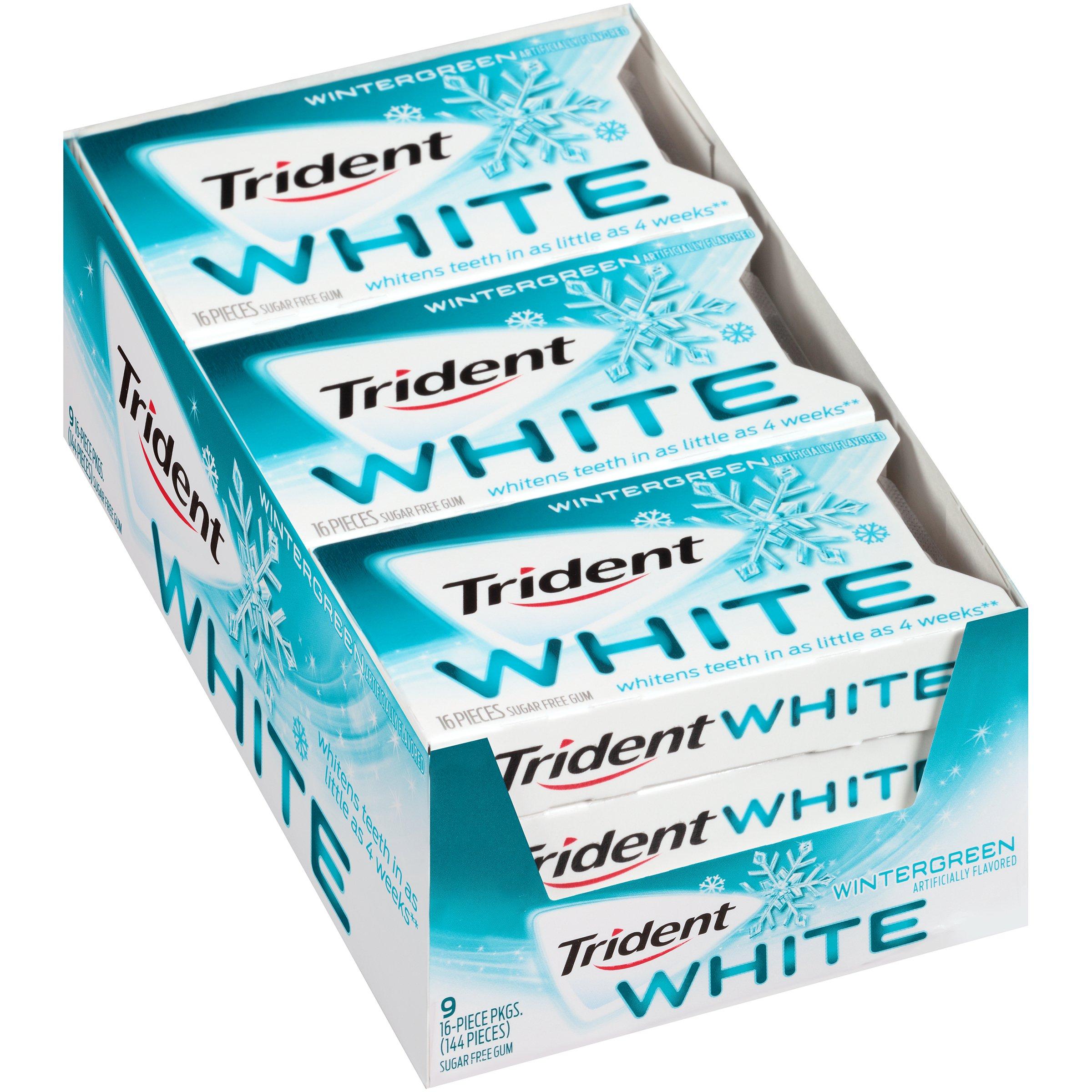 Amazoncom Trident White Sugar Free Gum Wintergreen 16 Piece 9