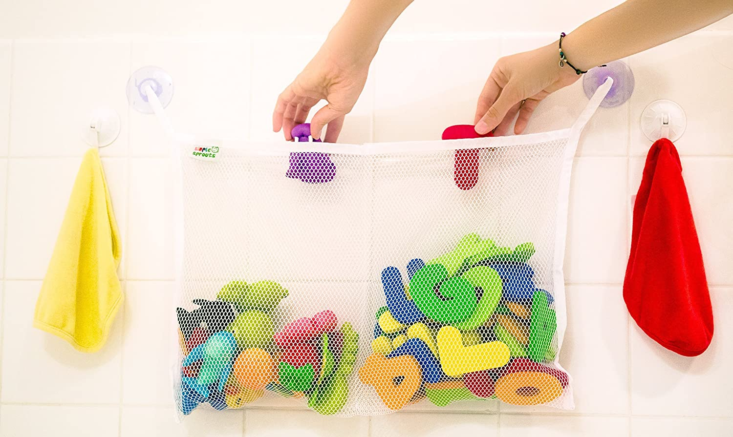 Amazon.com : TWO POCKET BATH TOY ORGANIZER - CLEARANCE DEAL - best ...