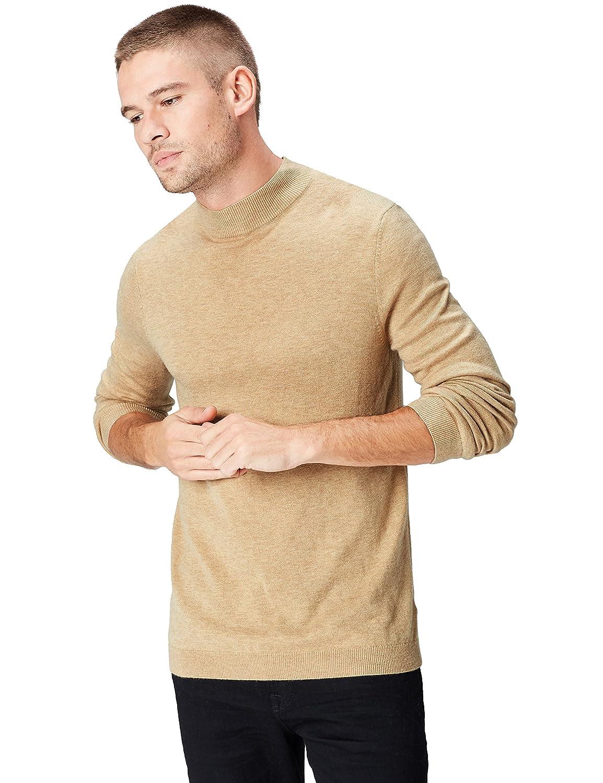 TALLA 52 (Talla del Fabricante: Large). find. Jersey de Cuello Alto de Lana Merino para Hombre