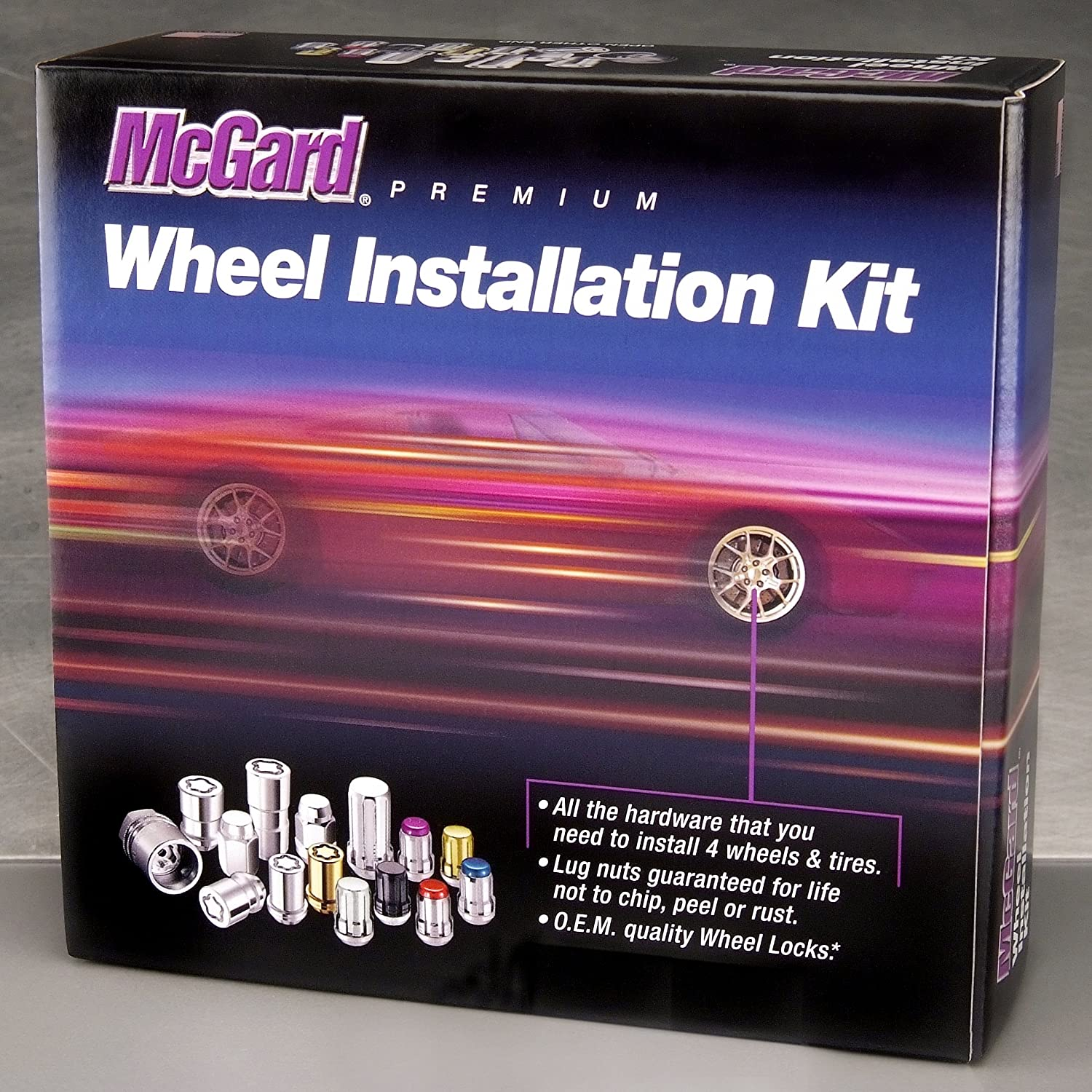 McGard 84557CN Chrome Cone Seat Wheel Installation Kit for 5 Lug Vehicles M12 x 1.5 Thread Size Clamshell Packaging
