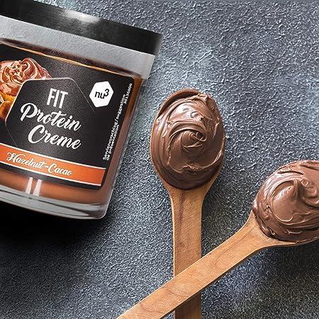 Fit Protein Creme - 200g crema de chocolate y avellanas - Sin aceite de palma ni gluten - 90% menos azúcar - 21% de proteína - Alternativa fitness ...