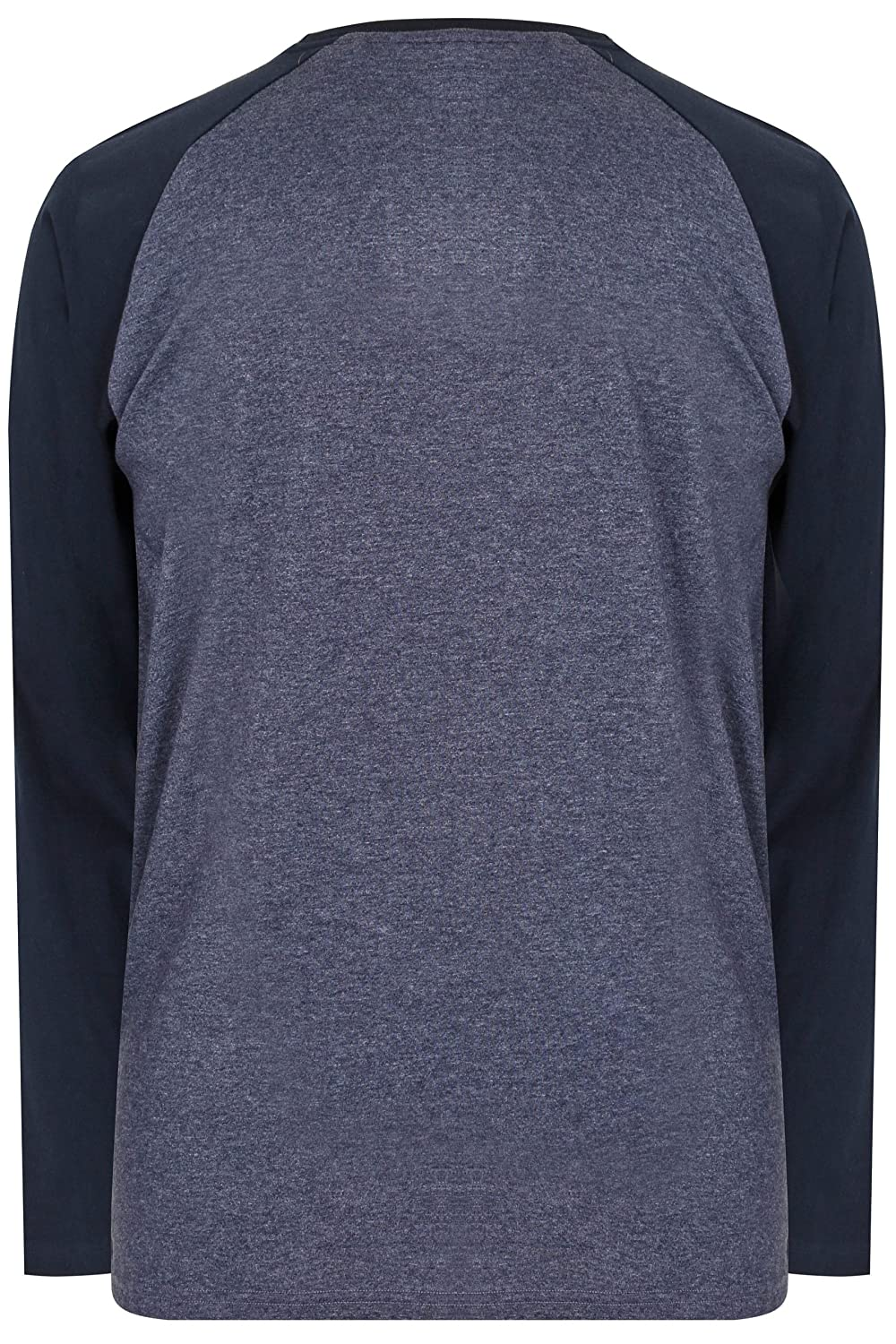 f86101786 Badrhino Men's Big and Tall Denim Blue Long Sleeve T-Shirt with Logo, Size  L to 8XL: Amazon.co.uk: Clothing