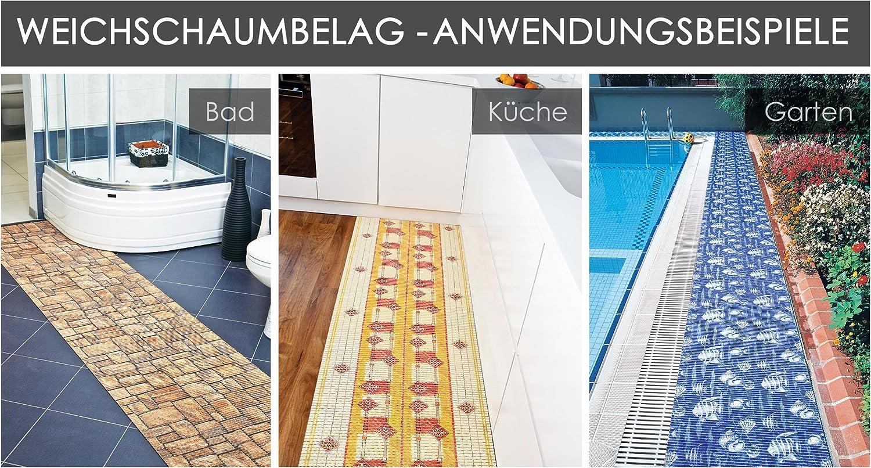 Badvorleger Aquamat Antirutsch Matte Bad Garten Küche Kieselsteine Größe wählbar