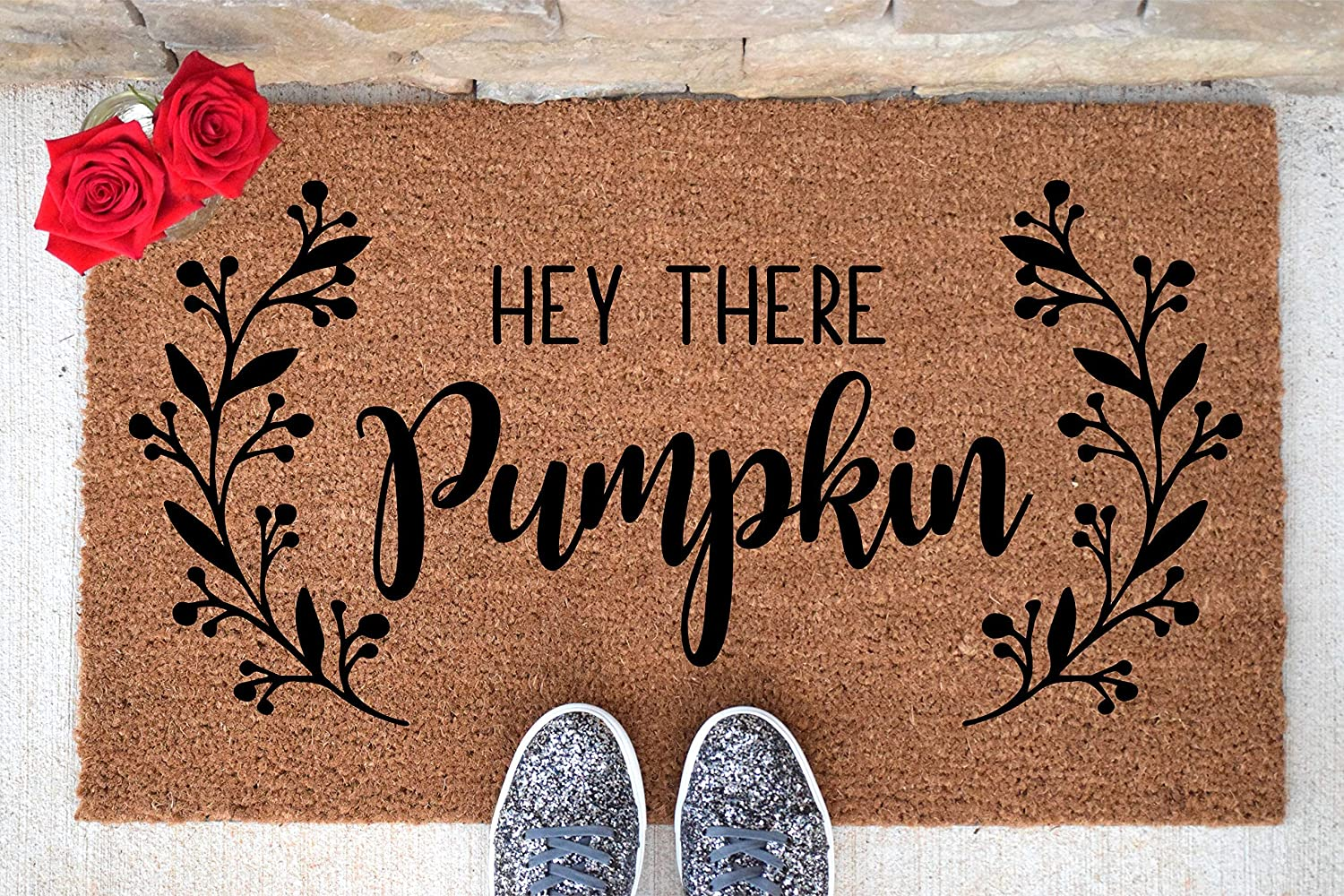 Hey There Pumpkin Doormat - Welcome Mat - Welcome Doormat - Cute Doormat - Funny Doormat - Pumpkin Doormat - Thanksgiving Doormat