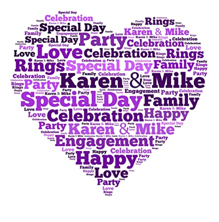 PERSONALISED WORD ART PRINT HEART LOVEHEART A4 BIRTHDAY GIFT PRESENT   Amazon.co.uk  Kitchen   Home 60364e0d2