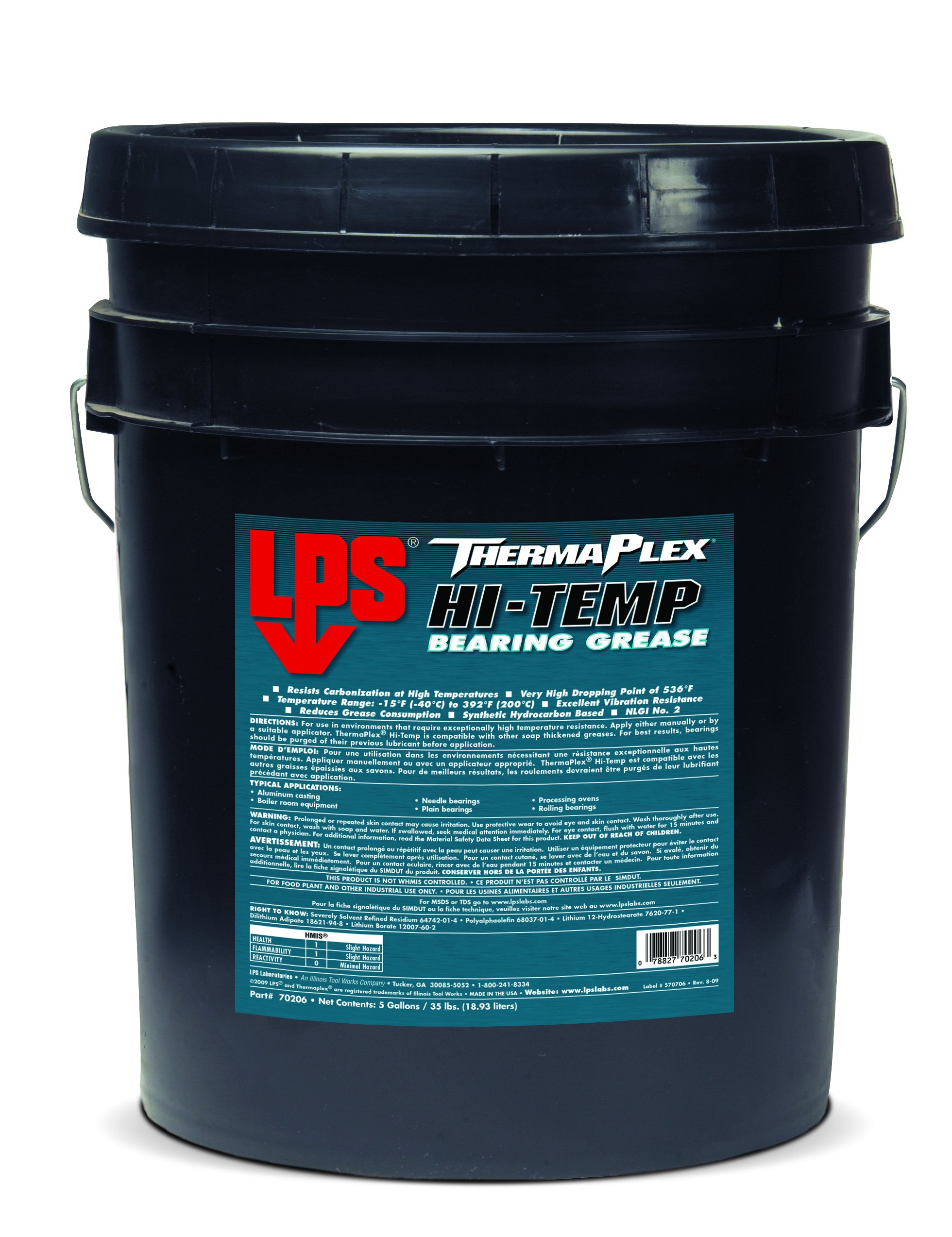 LPS ThermaPlex Hi-Temp Bearing Grease, 35 lbs