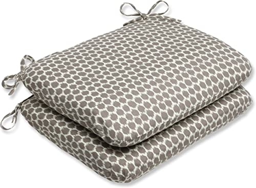 Pillow Perfect Outdoor Seeing Spots Sterling Rounded Corners Seat Cushion, Set of 2