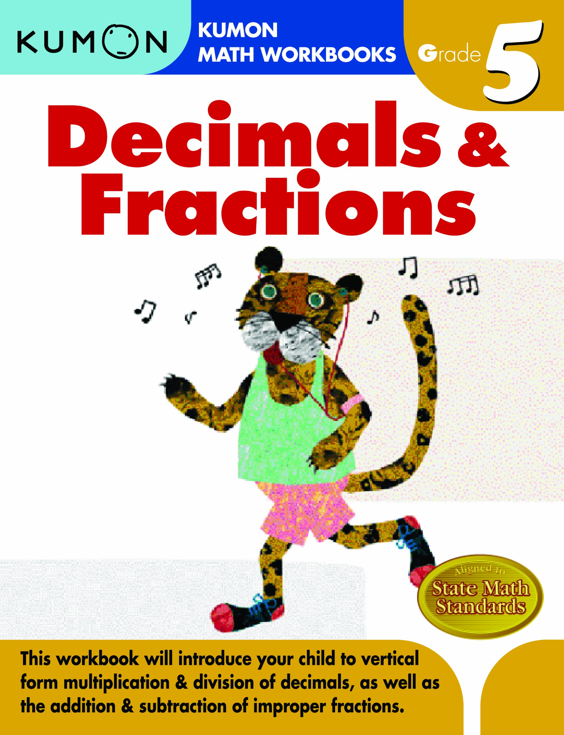 Buy Grade 5 Decimals And Fractions Kumon Math Workbooks Book