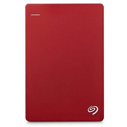 Seagate 1TB Backup Plus Slim (Red) USB 3 0 External Hard Drive for PC/Mac  with 2 Months Free Adobe Photography Plan