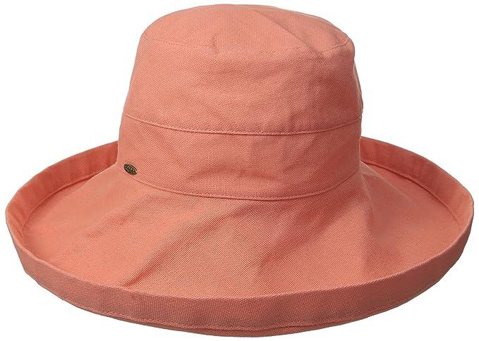 965d3f6b387 Scala Women s Cotton Big Brim Hat with Inner Drawstring